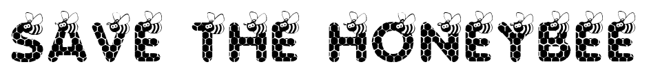 SAVE THE HONEYBEE font