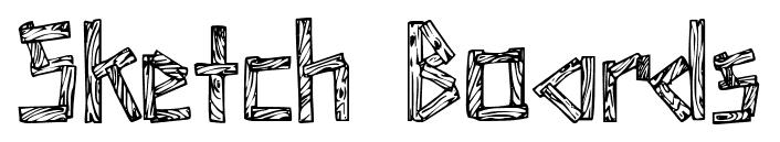 Sketch Boards font