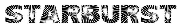 Starburst font