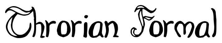 Throrian Formal font