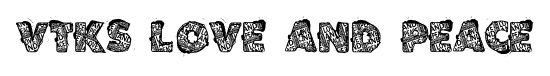 VTKS Love and Peace font