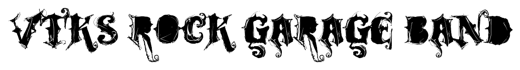 VTKS Rock Garage Band font