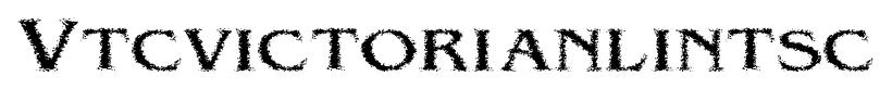 Vtcvictorianlintsc font