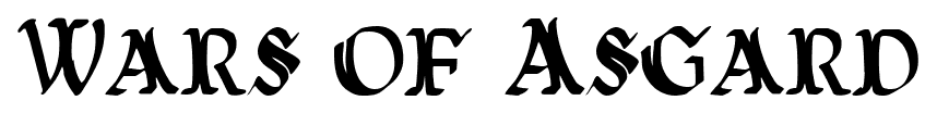 Wars of Asgard font