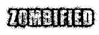 Zombified font