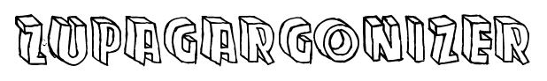 Zupagargonizer font