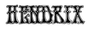 hendrix font