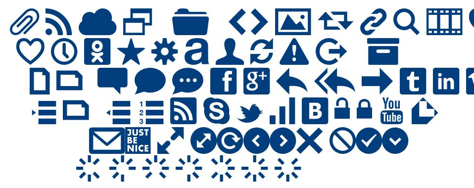 Web Symbols Regular font