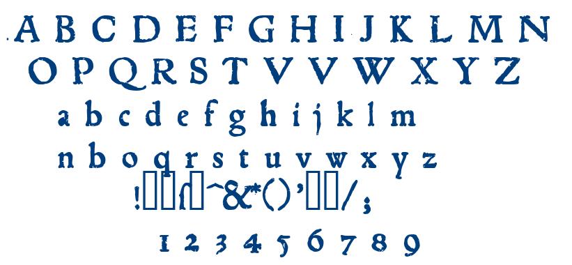 1543 Humane Jenson font