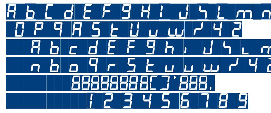 7LED italic font