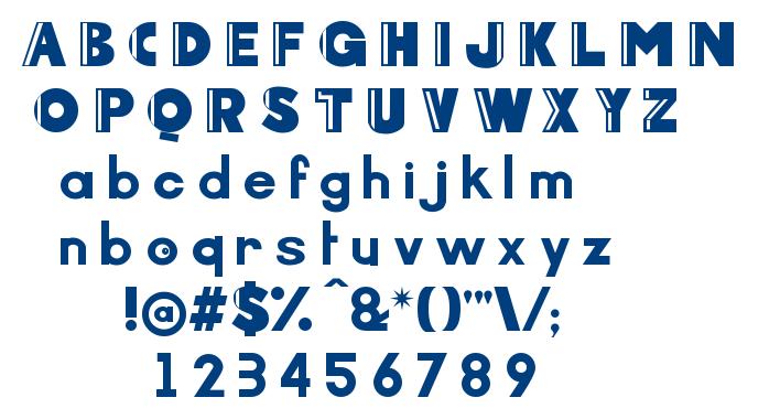 Arcoverde font