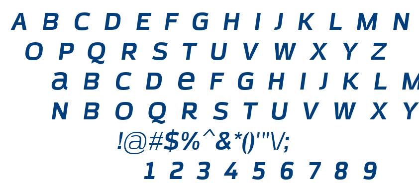 Azoft Sans Bold Italic font