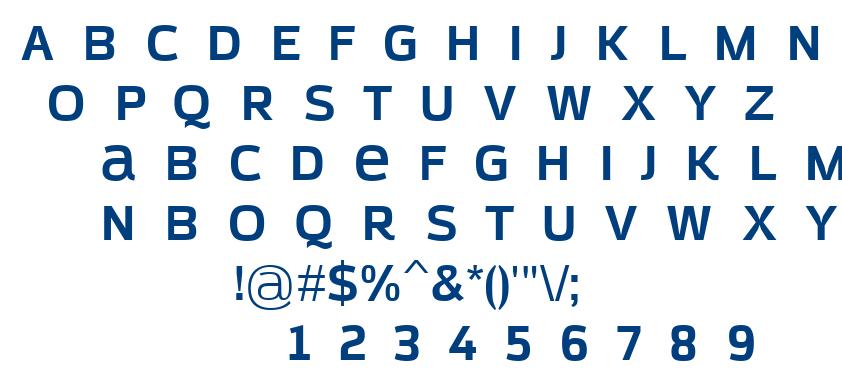Azoft Sans Bold font