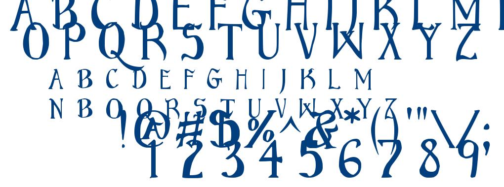 Bruce Scaled font