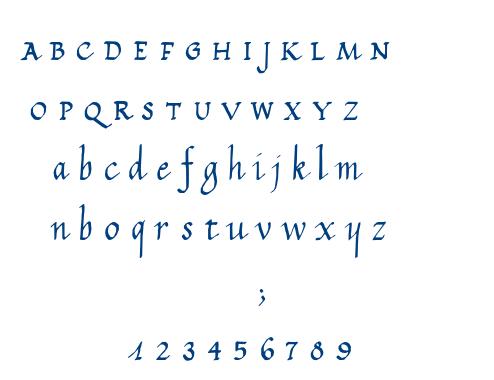 Calligraphy Unicase font