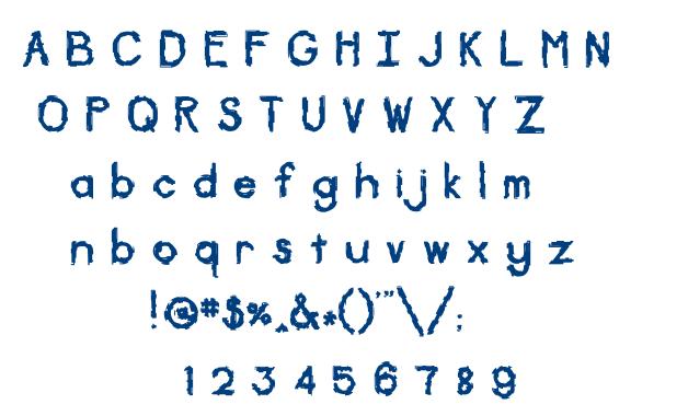 Diskontented font