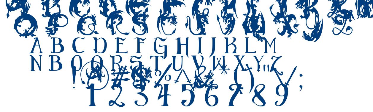 EG Dragon Caps font