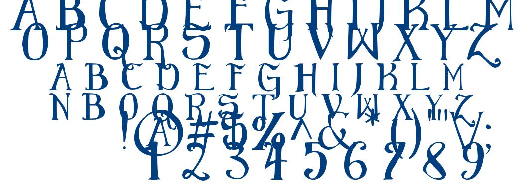 Elementary Gothic font