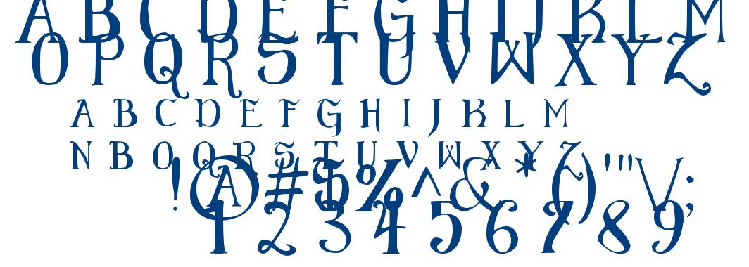 Elementary Gothic Scaled font