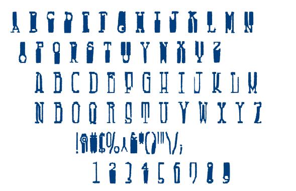 Fucsimile font