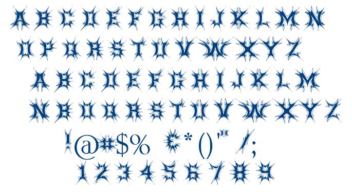 Threatened font