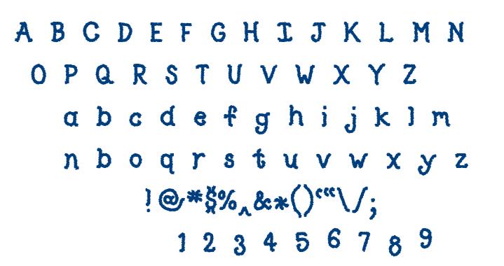 Type O font