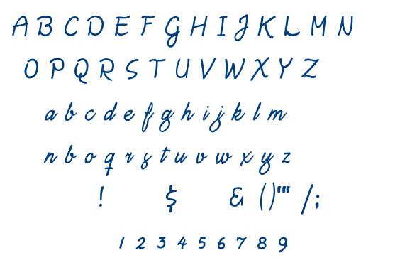 Daisy Script font