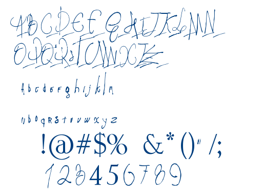 Pappo's Blues Fanmade font