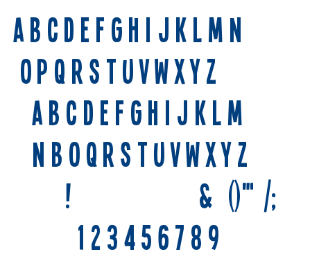 Single Sleeve font