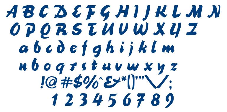 BlackNib font