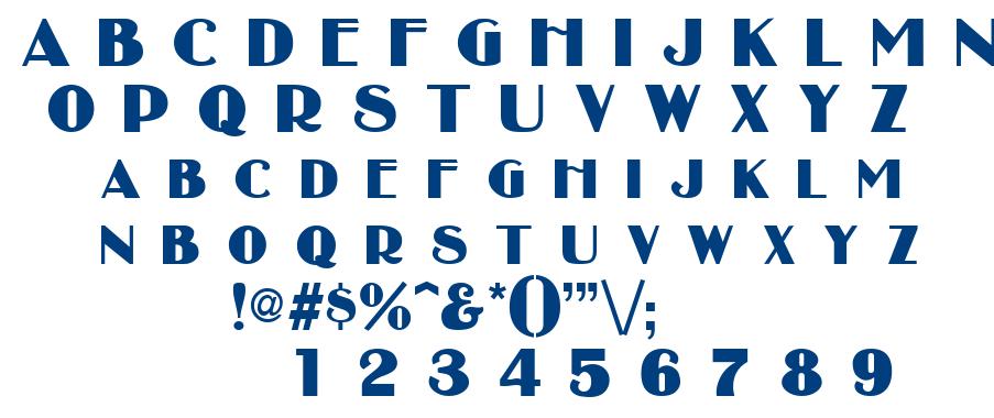 Broadbay font