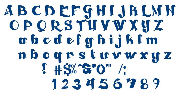 Beckasin font