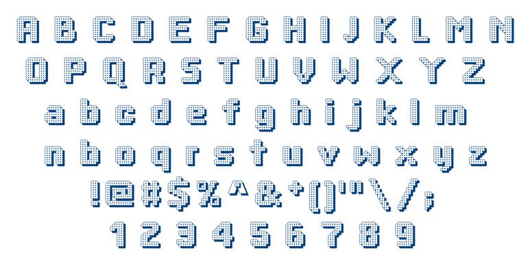 Dotty Shadow font