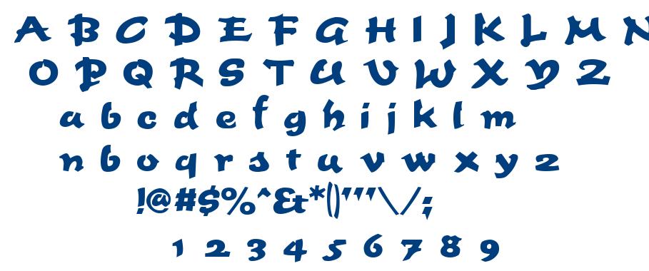 Fettash font
