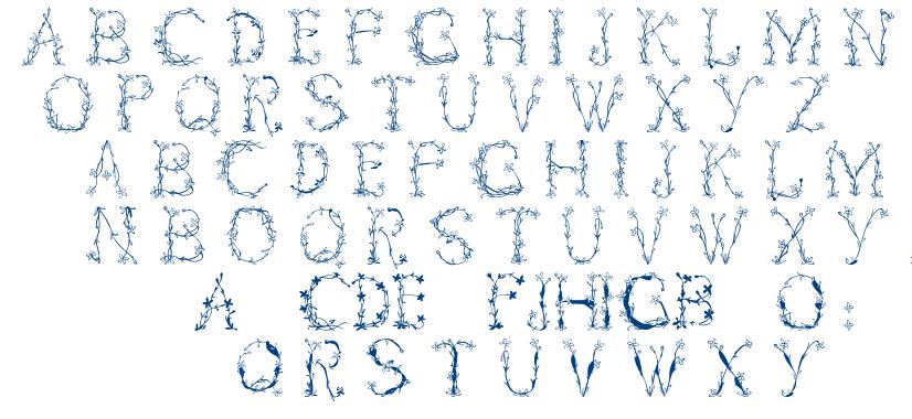 Florabetic font
