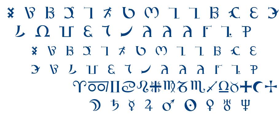 GD_Enochian font