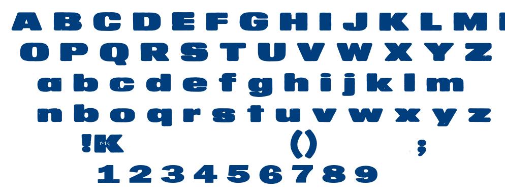 MKaputt Expanded font