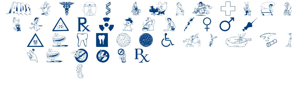 Medicobats font