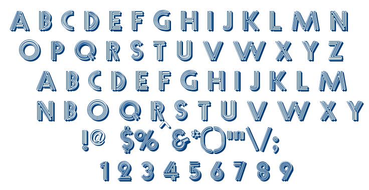 Multistrokes font