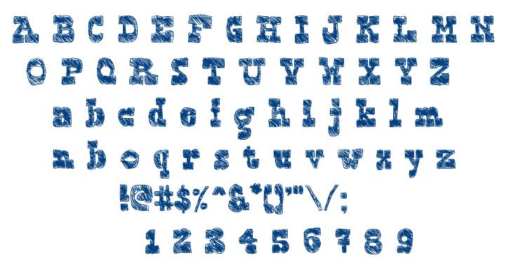 Blockography font