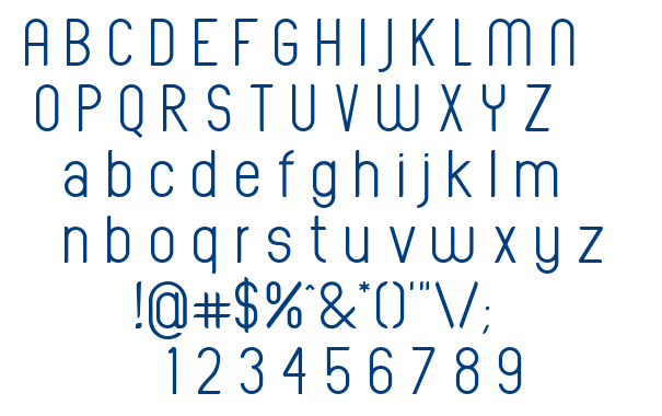 Oval Track font