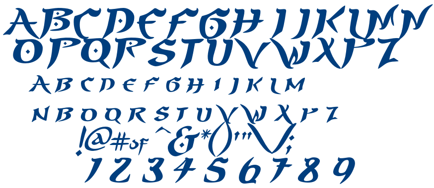 Similar Free Fonts for PrinceofPersia