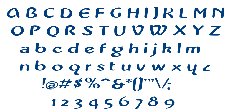 PopUp font