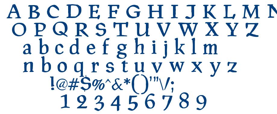 PragRoman font