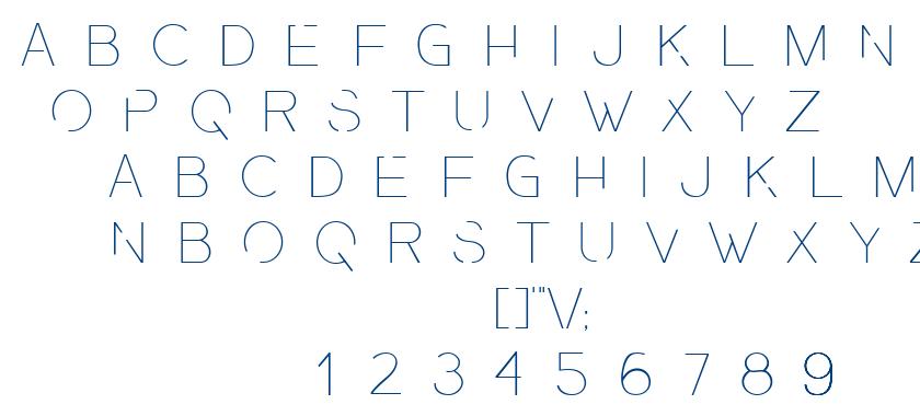 Presa Ultralight font