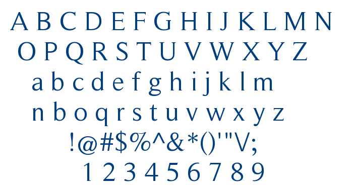 Roman Serif font