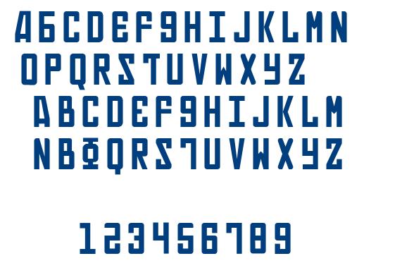Russian font