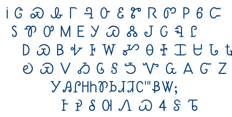Sequoyah font