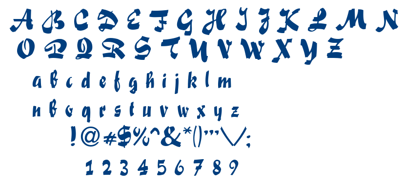 Swashett font