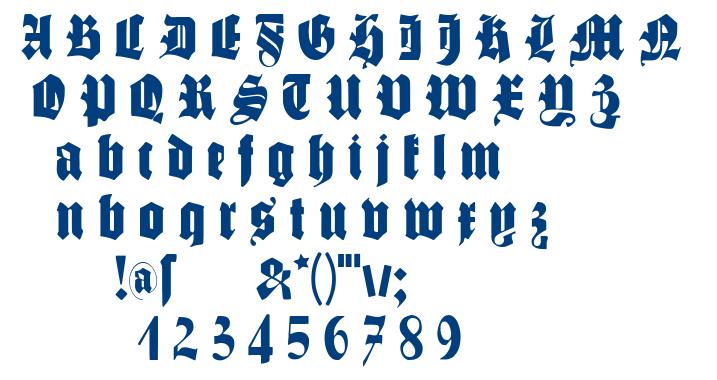 Schmale Gotisch MK font